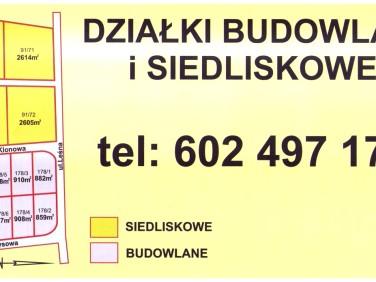 Działka budowlana Galowice