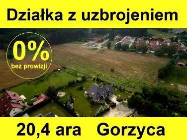 Zabudowana działka Gorzyca