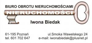 Biuro Obrotu Nieruchomościami i Lokalami  Iwona Kaczerewska-Biedak
