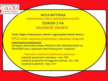 Działka Wola Batorska