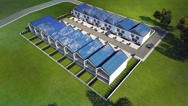 Słoneczniki - domy zasilane słońcem