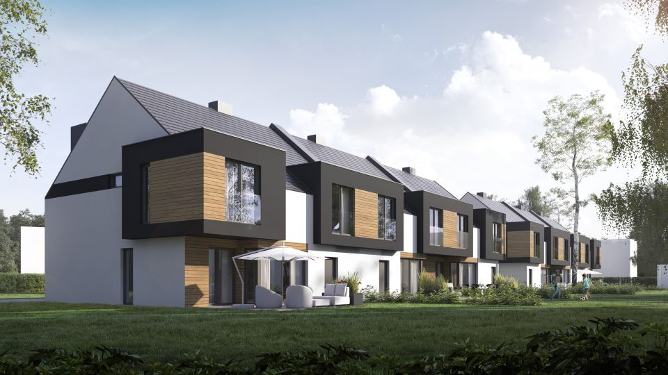 Domy w zabudowie szeregowej Dąbrówka Mała