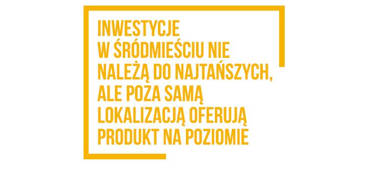 Inwestycje w sródmieściu Kraków