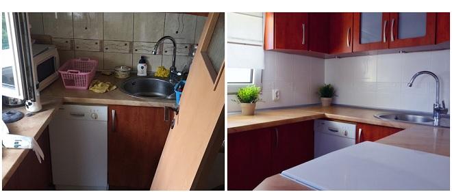 Kuchnia przed i po odświeżeniu fot. Paweł Albrecht